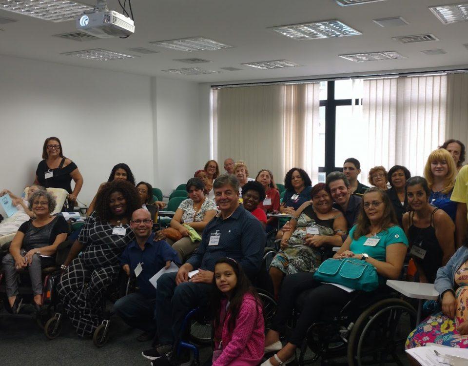 Participantes (31) do 6º Seminário Arquidiocesano da PCD do Rio de Janeiro. Local: Mitra Arquidiocesana .