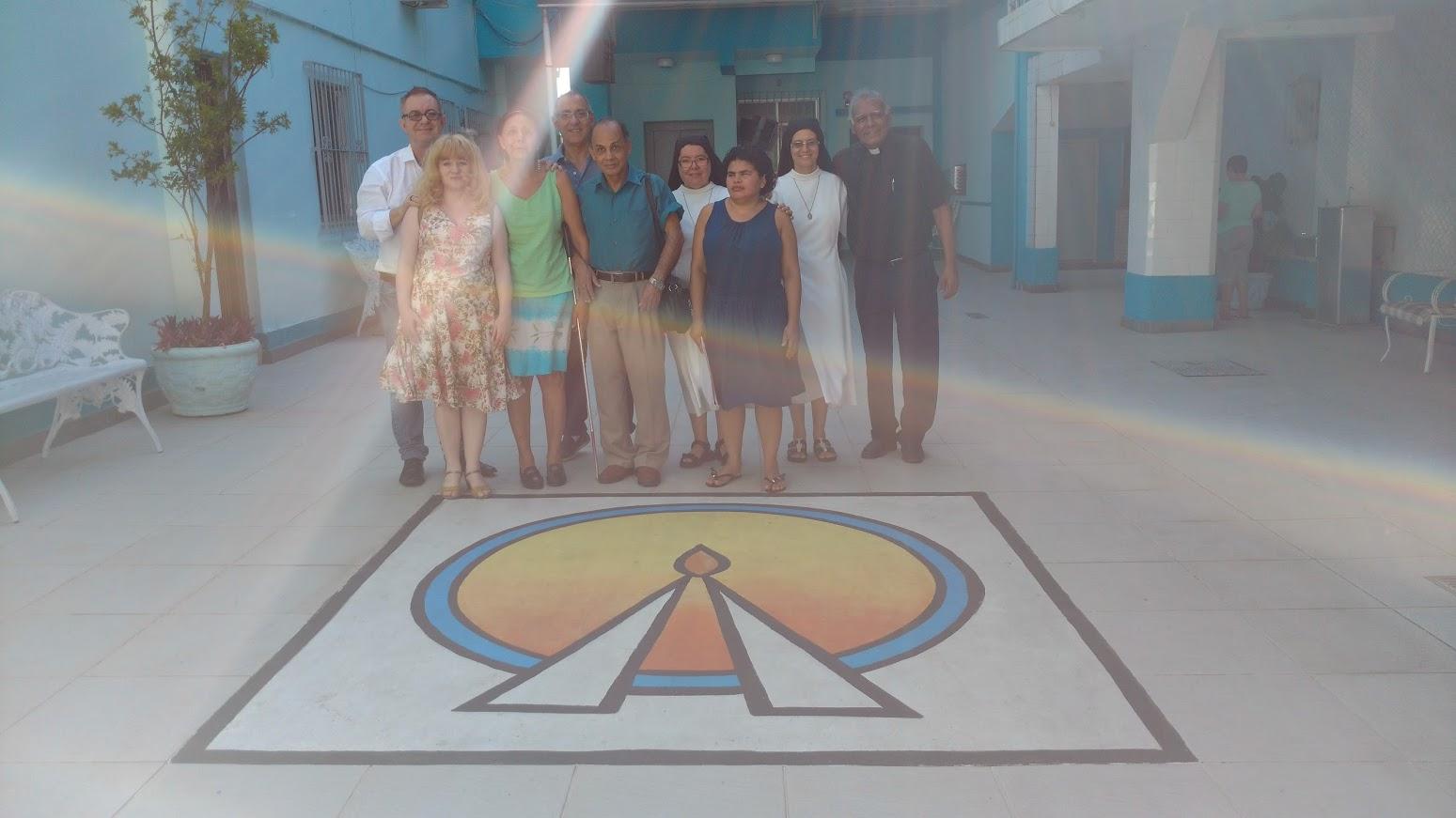 Fotos: Professor Cesar, Débora, Antonia, Jorge, Irmã Alberice, Irmã Luciana, Luís, Elaine e Diácono BA