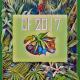 No centro do desenho as letras CF que significam Campanha da Fraternidade. Há muitos elementos como a Flora e fauna no centro e há o ano em curso 2017. Ramos de florestas de todas as cores preenchem o desenho em formato de quadro.