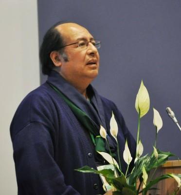 Padre Issac, ele é o Conselheiro do Movimento Fé e Luz. Esse Movimento trabalha com pessoas com deficiência Intelectual.