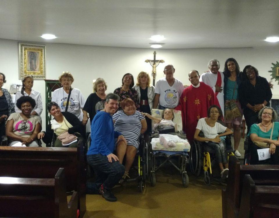 Missa Pascal do Fórum Permanente da Pessoa com Deficiência no dia 03 de maio às 19h na Capela da Mitra.