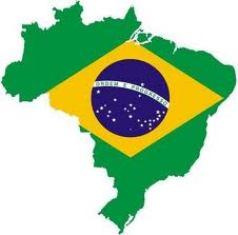Bandeira do Brasil com o mapa estilizado do mapa