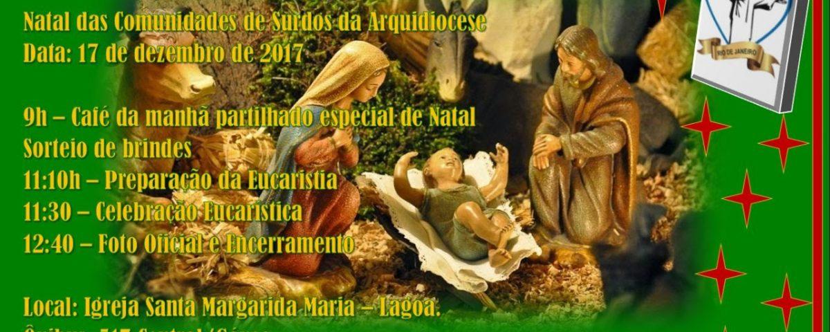 Programa da Comemoração do Natal dos Surdos da Arquidiocese do Rio de Janeiro.