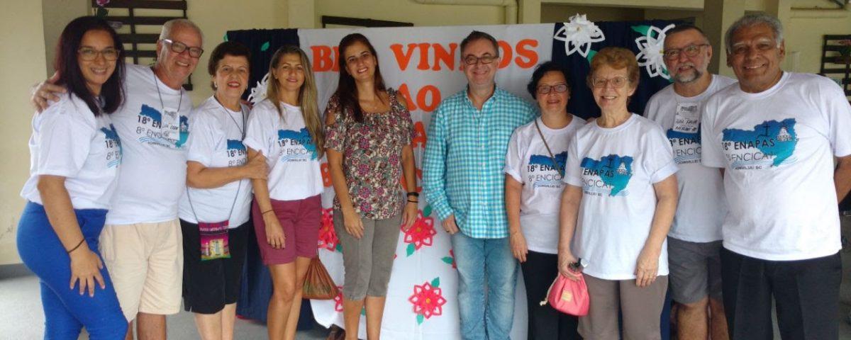 Da esquerda para direita: Paula (Penha), Geraldo e Ana Maria (Niterói), (Isabel (Macaé), Janise (Jacarepaguá), Cesar (Lagoa), Kátia (Niterói), Iracema (Jacarepaguá), Felipe (Niterói) e Diácono José (Cúria)