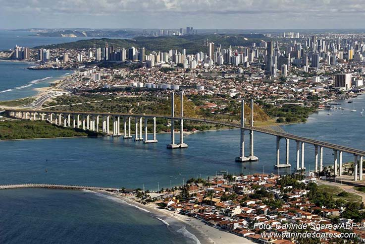 Vista Panorâmica da cidade de Natal, onde acontecerá o 4º ENACORPI