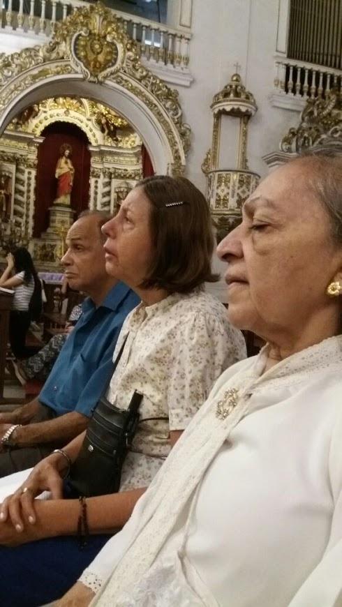 Outro momento da Missa do dia 08 de março - Dia Internacional da Mulher.