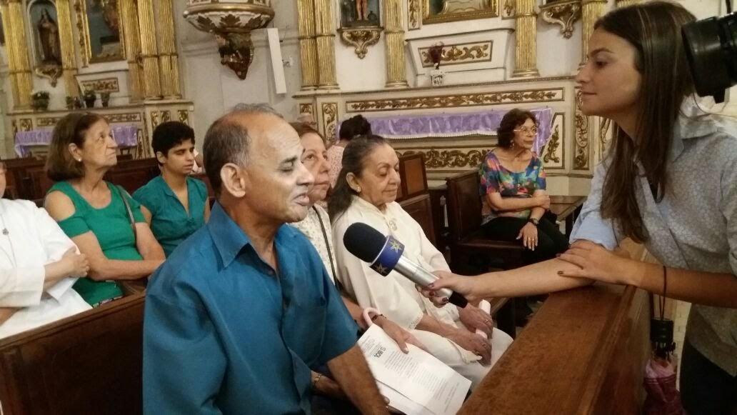 Jorge (cego) esposo da Coordenadora da Pastoral do Cego fala sobre a pastoral na Arquidiocese.