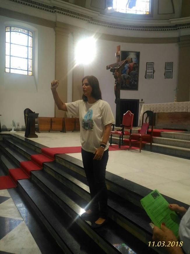 Janise, uma das Coordenadoras do Regional Leste 1 incentiva a todos a participarem da Vida da Igreja.