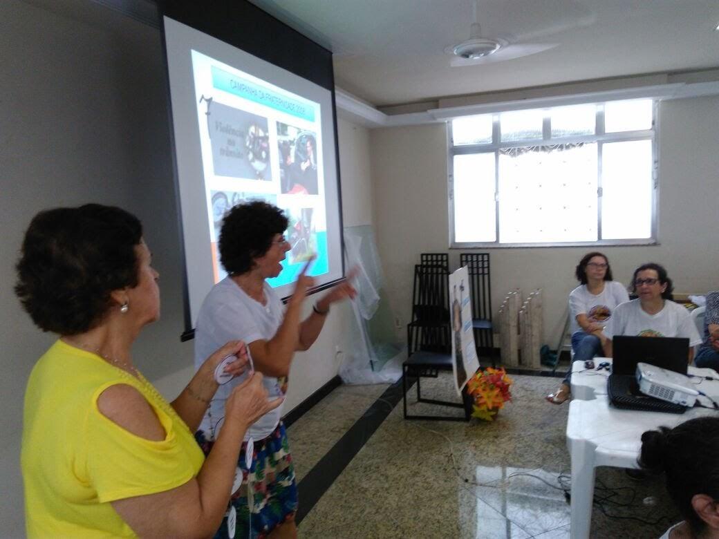 Marlene, Coordenadora Local da tijuca com Ana Maria de Niterói apresentando o tema da Campanha da Fraternidade de 2018.