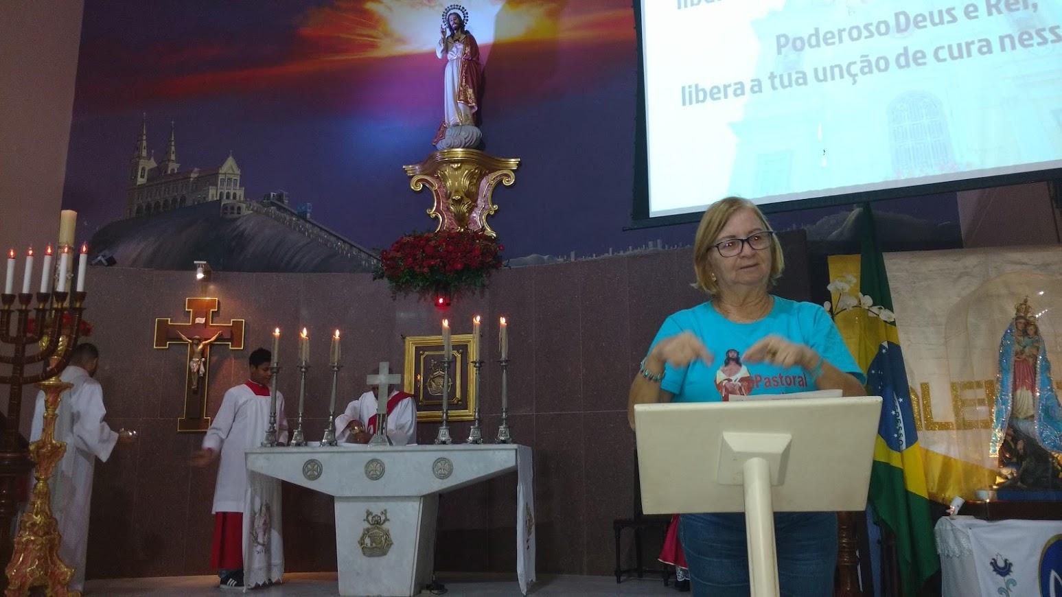 participação da Coordenadora Local da Igreja Bom Jesus da Penha, Isabel.