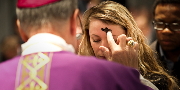 web3-ash-wednesday-woman-ashes-service-mass-marcin-mazur-catholic-church-of-england-and-wales